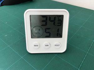 午後2時のピット内の温度