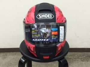 ショウエイネオテックヘルメットラッピング貼り完成正面