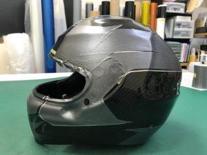 ヘルメットラッピングシャルルルクレールレプリカテスト面貼り