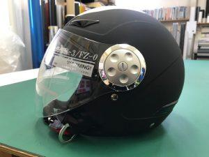 ヘルメットラッピング子供用ヘルメット迷彩カラー施工前
