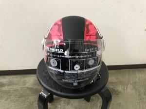 ヘルメットラッピング子供用ヘルメット迷彩カラー完成前