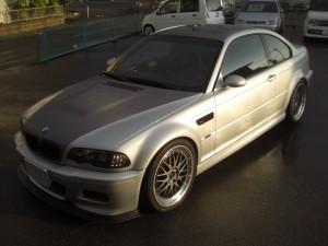 BMWE46M3ブラッシュドメタリックツートンラッピング