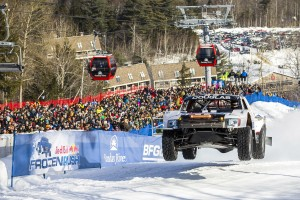 Scott Douglas races at Red Bull Frozen Rush at Sunday River in Newry, Maine, USA on 09 January 2015.